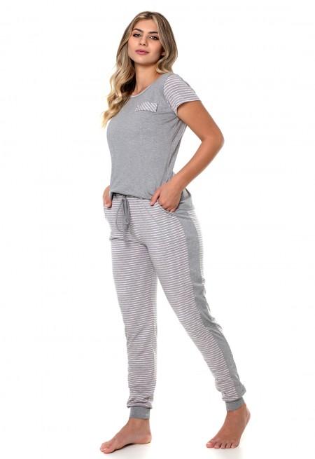 Pijama inverno manga curta sensações Cherry moda íntima